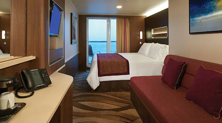 Mid-Ship Mini Suite with Balcony – [MC]