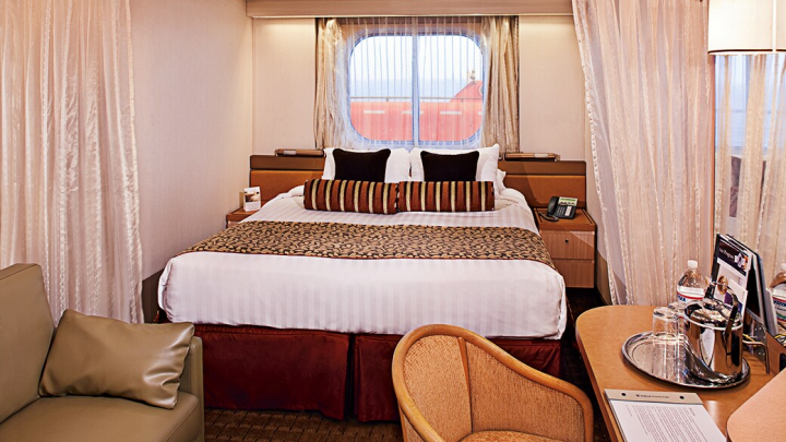Large Ocean-view Stateroom (Partial Sea View)   – [G]