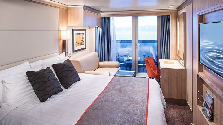 Verandah Stateroom (Partially Obstructed View) – [VH]